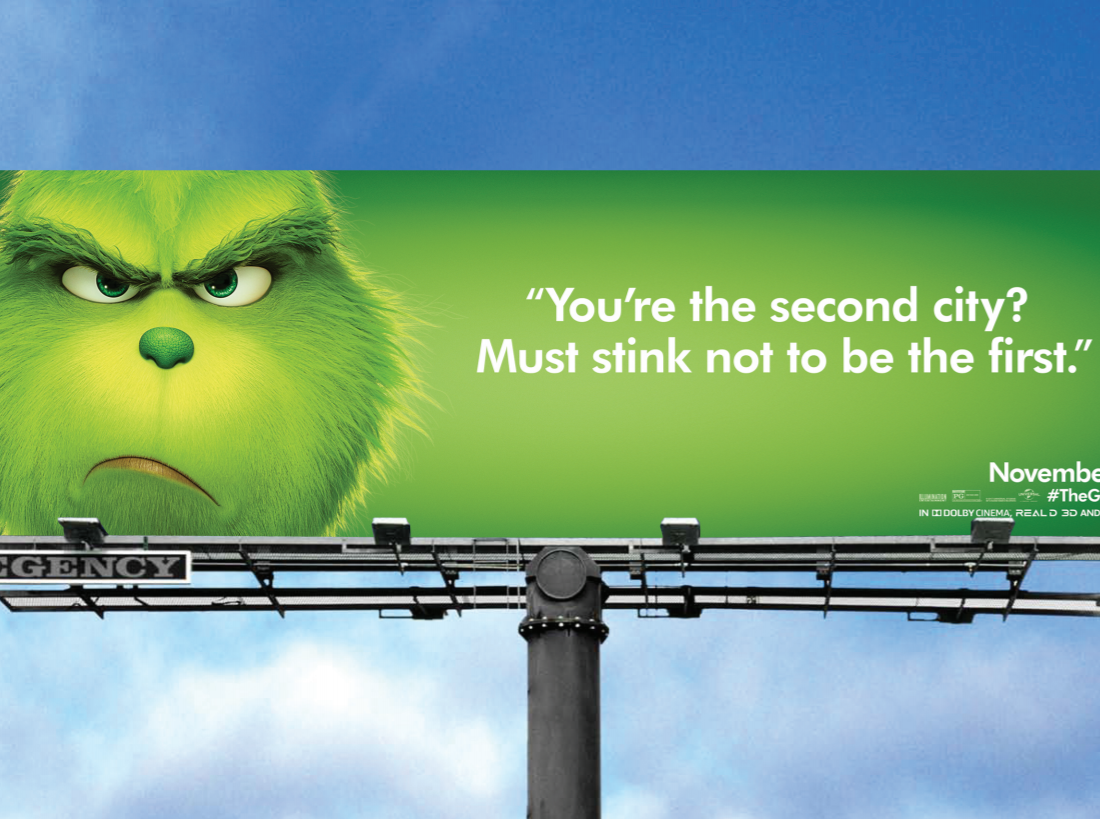 The Grinch takes a swipe at Chicago.