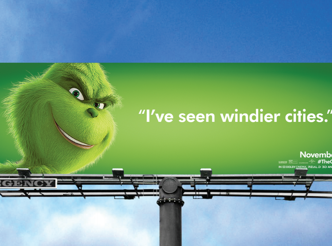 "Chicago is known as ""The Windy City."" The Grinch disagrees."