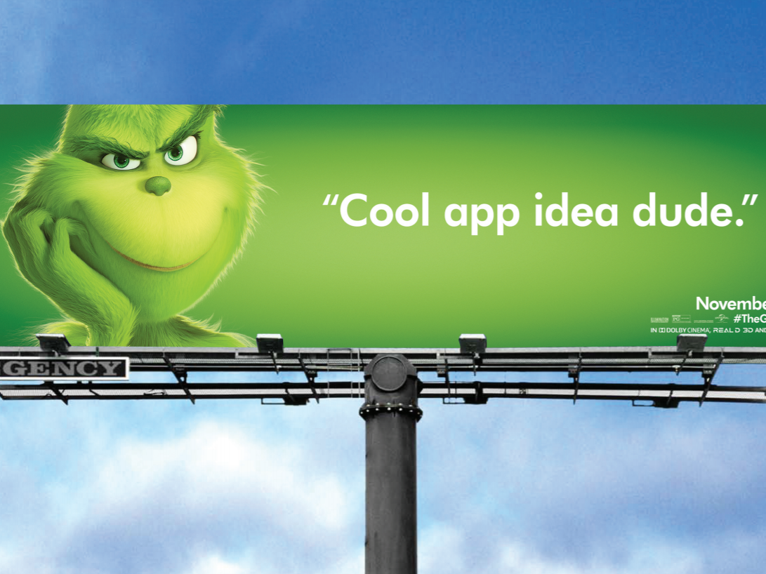 Everyone has an app idea in San Francisco. The Grinch has a line for that.