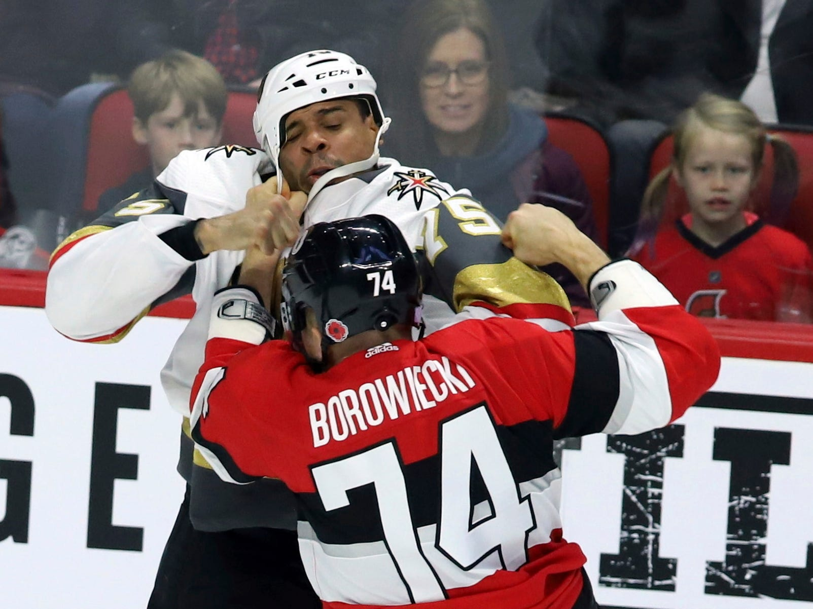 Nov. 8: Senators' Mark Borowiecki vs. Golden Knights' Ryan Reaves.