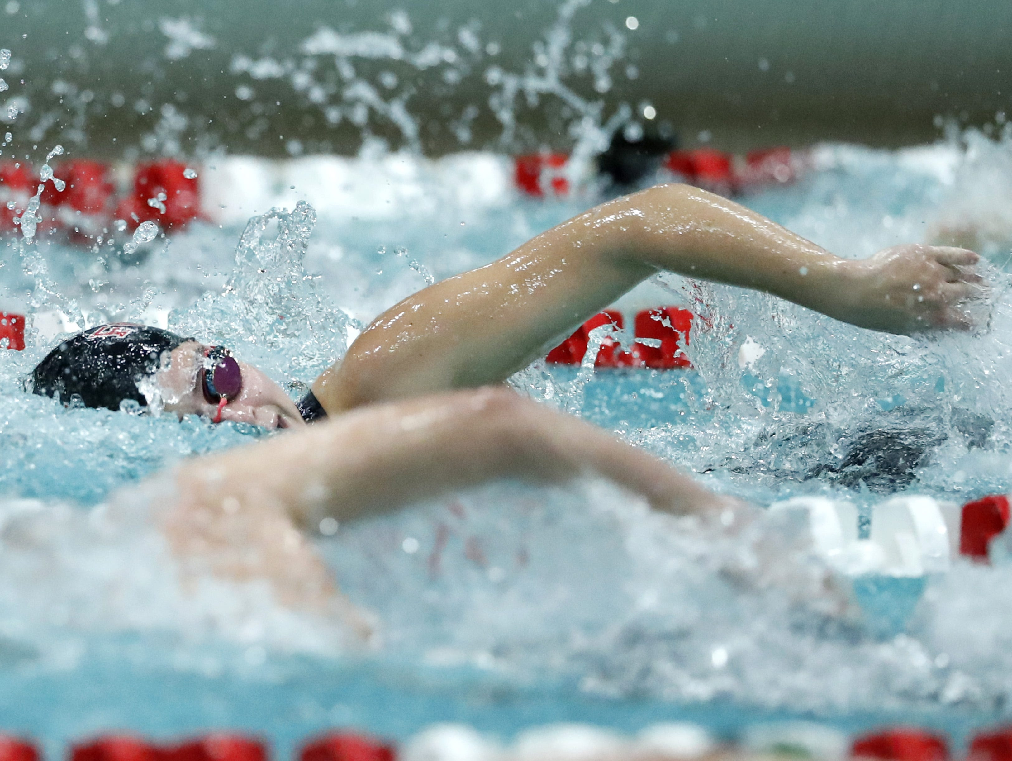Fond du LacÕs Isabella Jones races in the 200 yard freestyle during the WIAA Division 1 State Swimming and Diving meet Saturday, Nov. 10, 2018, at the UW Natatorium in Madison, Wis. Danny Damiani/USA TODAY NETWORK-Wisconsin