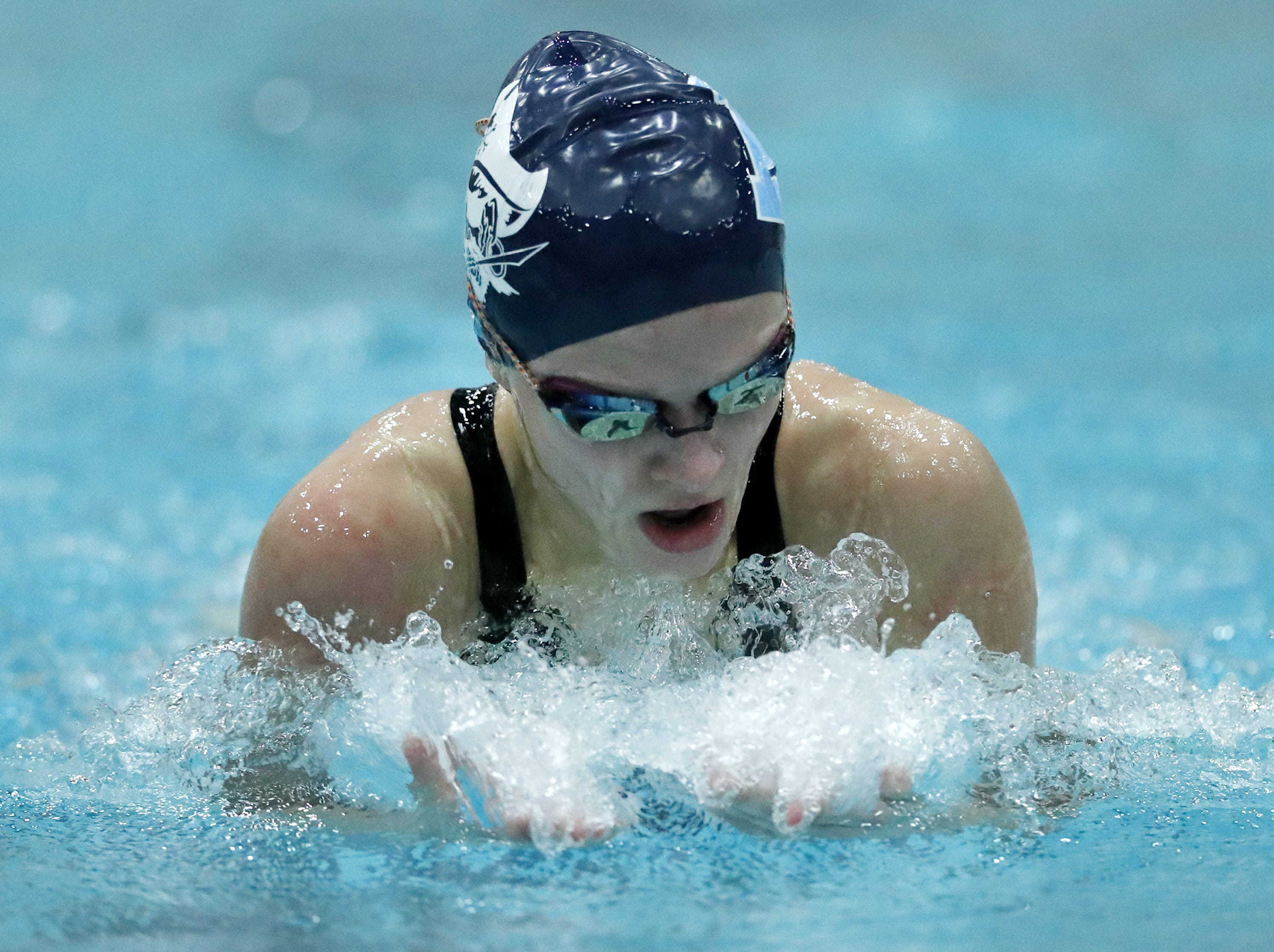 Bay PortÕs  Emma Lasecki races in the 200 yard individual medley during the WIAA Division 1 State Swimming and Diving meet Saturday, Nov. 10, 2018, at the UW Natatorium in Madison, Wis. Danny Damiani/USA TODAY NETWORK-Wisconsin