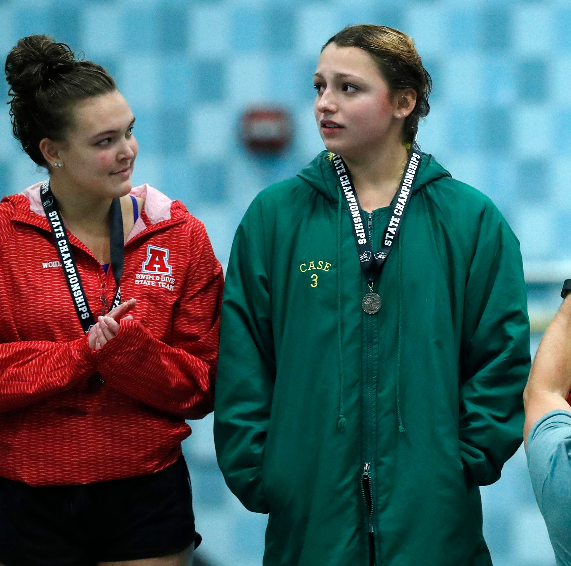 Neenah's Osero wins third consecutive state diving championship