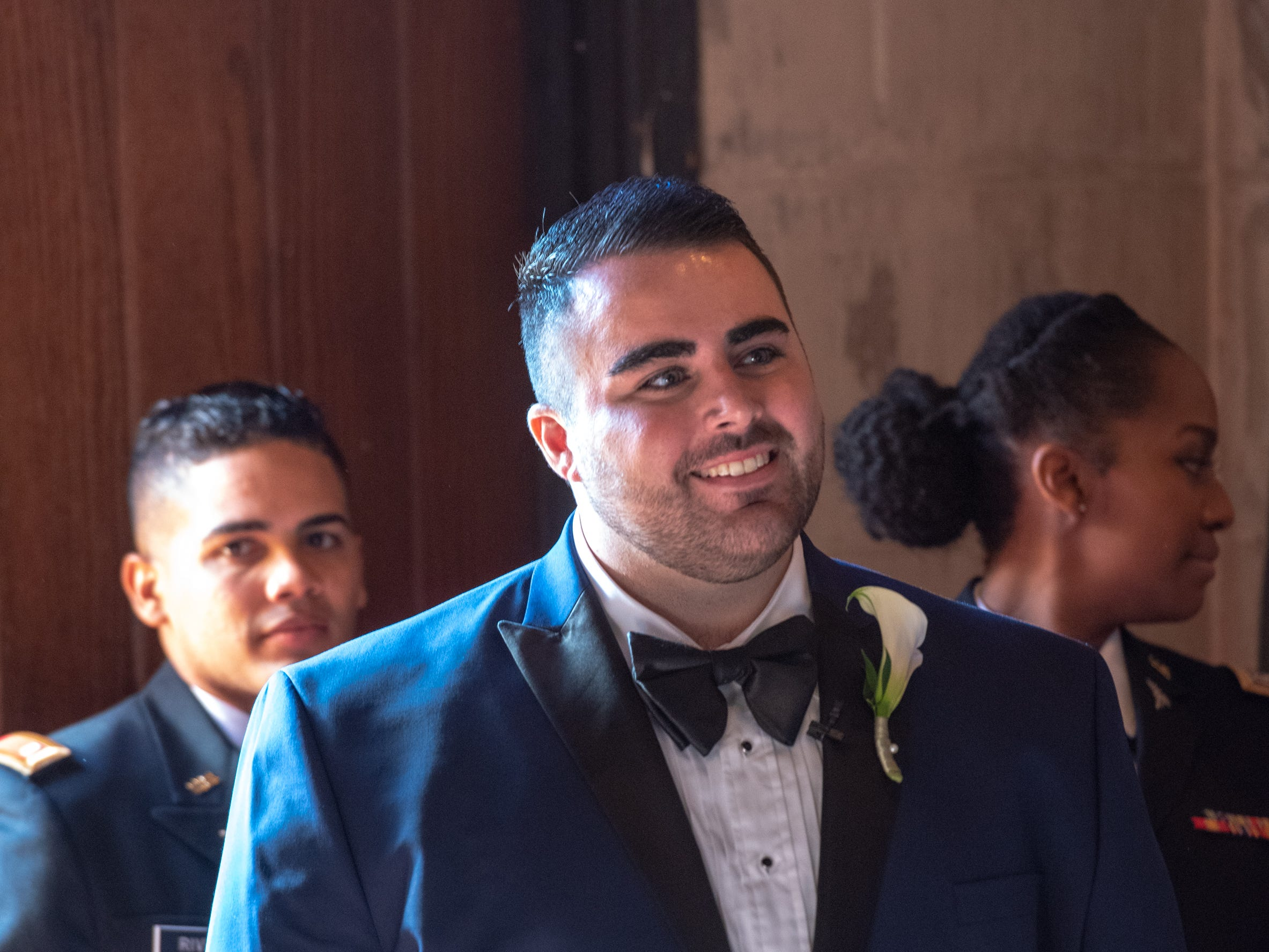 Christian Fuscarino, (pictured here) Executive Director of Garden State Equality, and U.S. Marine Corporal Aaron Williams were married at Trinity Church in Asbury Park on Sunday, November 11, 2018.