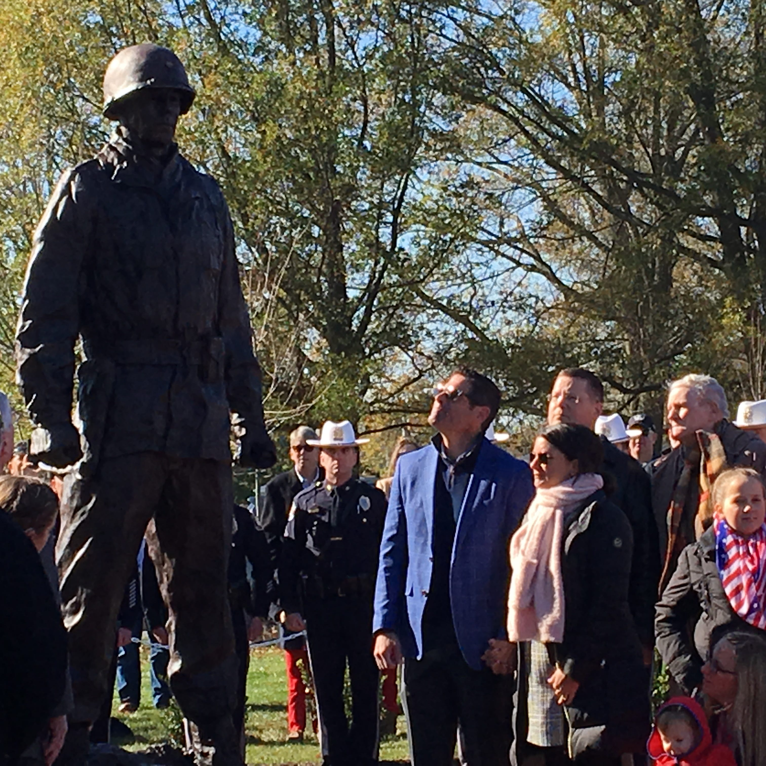 Veterans Day: Gen. Harry Rockafeller statue unveiled in Wall