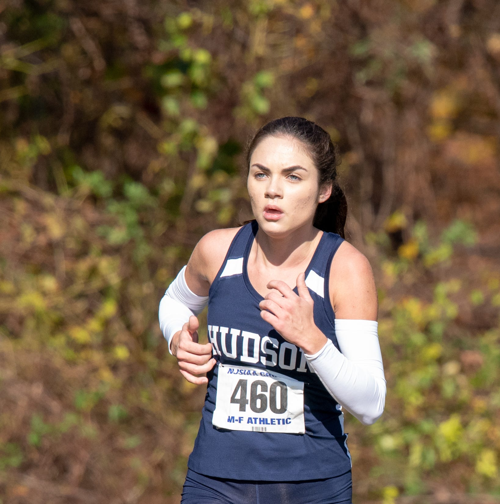 Corina Vidal of Henry Hudson won the Group 1 Grils race with a time of 19:27. The NJSIAA Cross Country Group Championships were held at Holmdel Park, Holmdel on Saturday, November 10, 2018./Russ DeSantis for the Asbury Park Press