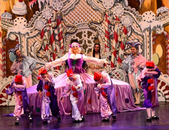 "The Mother Ginger scene is a comedic favorite in ""The Nutcracker,"" with Seth Willis dressed to thrill as the grande dame herself."