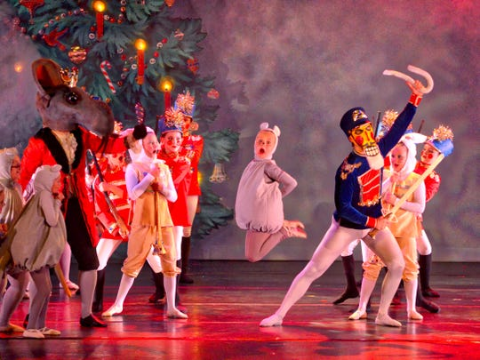 "Seth Willis as the Mouse King, left, in a production of ""The Nutcracker"" from a few years ago."