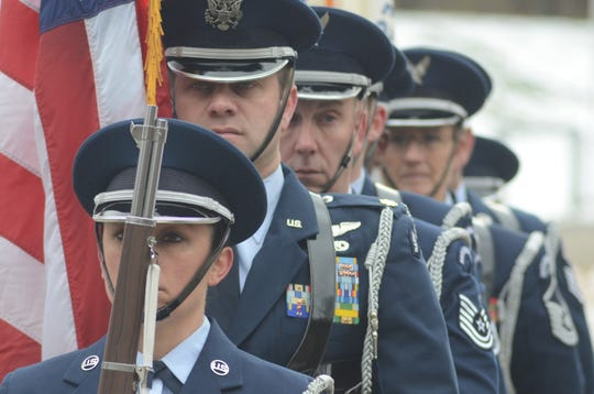 The Honor Guard from the Battle Creek Air National Guard Base.