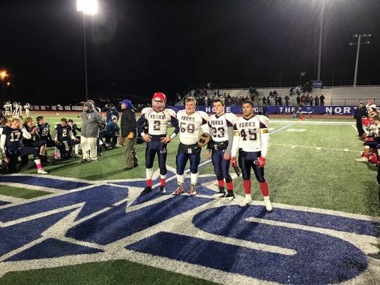 Forks captains acknowledged for the final time in 2018.