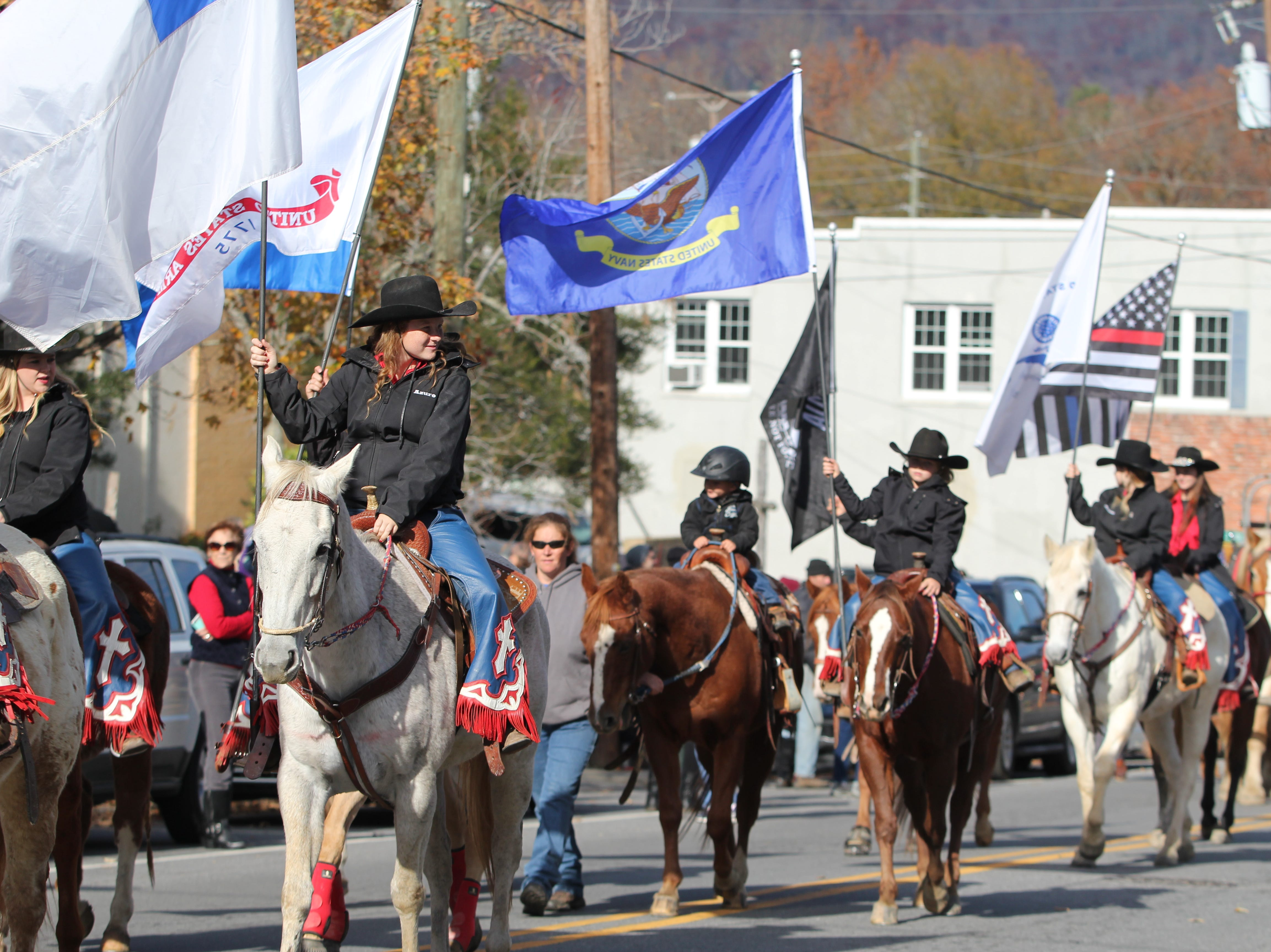 Black Mountain's first Veterans Day Parade made its way along State Street on Sunday, Nov. 11, 2018