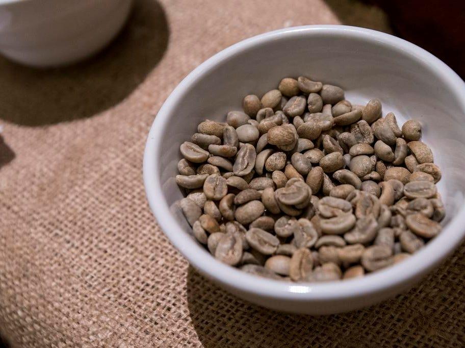 Coffee beans from De La Finca Coffee Importers are laid out during the Cincinnati Coffee Festival at Music Hall Saturday, November 10, 2018 in Cincinnati, Ohio.