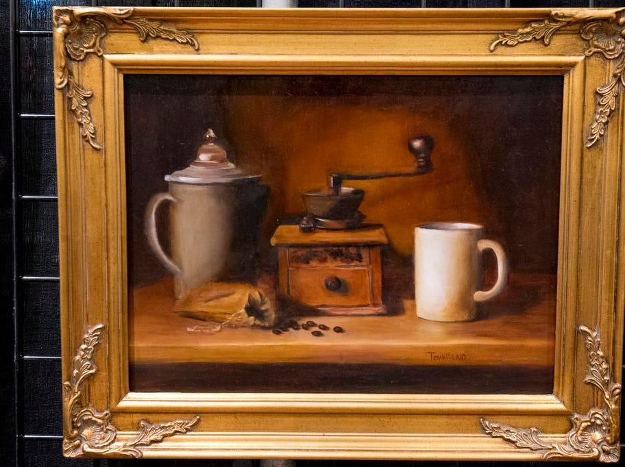 The Art of Coffee showcases coffee-themed artistic works at the Cincinnati Coffee Festival at Music Hall Saturday, November 10, 2018 in Cincinnati, Ohio.
