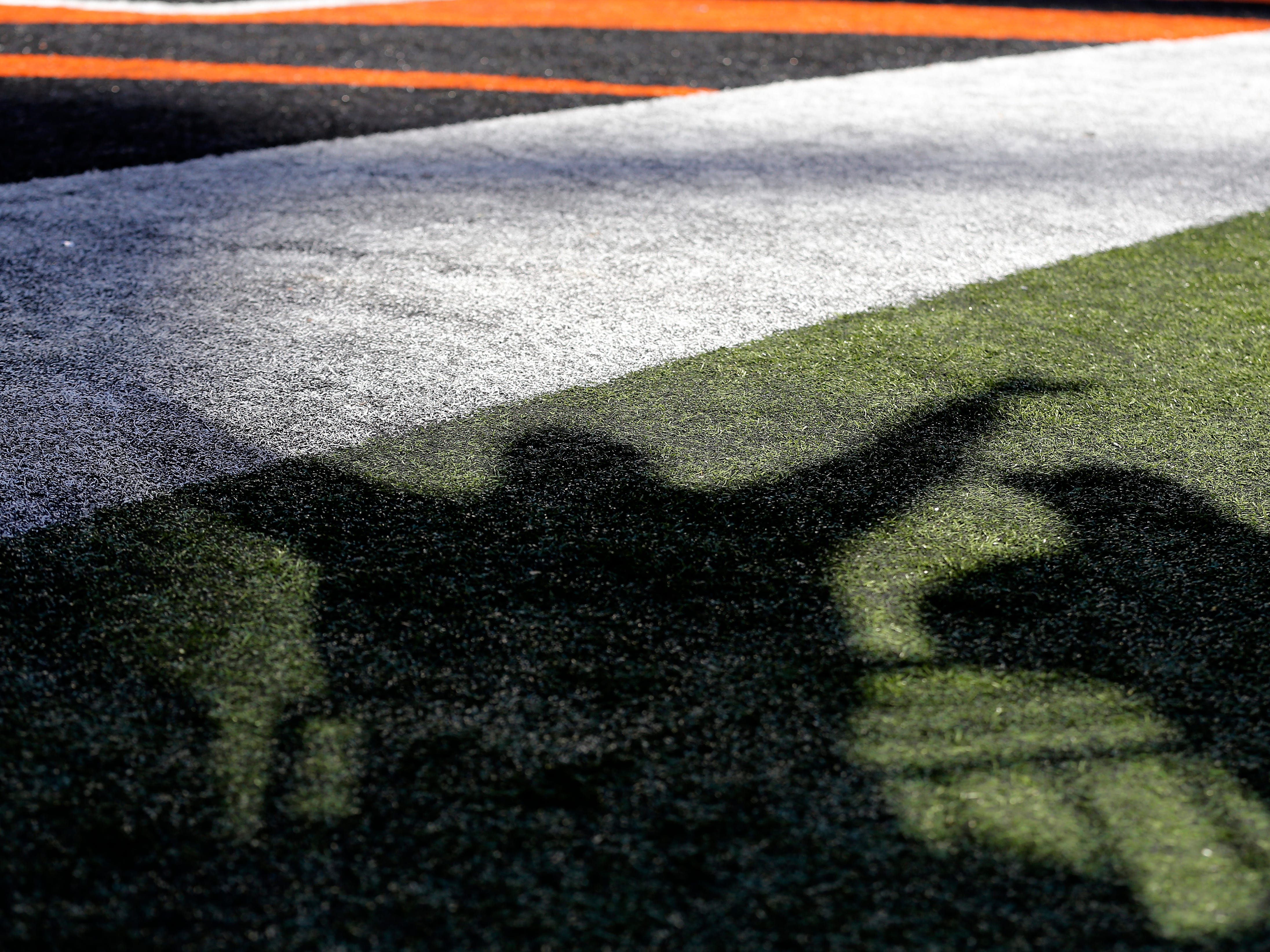 A Cincinnati Bengals fan waves off a Saints touchdown as the play is reviewed in the first quarter of the NFL Week 10 game between the Cincinnati Bengals and the New Orleans Saints at Paul Brown Stadium in downtown Cincinnati on Sunday, Nov. 11, 2018. The Saints led 35-7 at halftime.