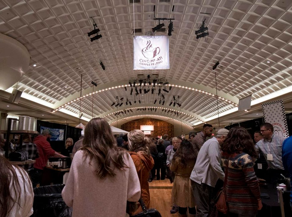Thousands of coffee lovers attend the Cincinnati Coffee Festival at Music Hall Saturday, November 10, 2018 in Cincinnati, Ohio. The festival continues through Sunday, November 11.