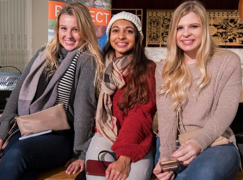 Ada Williams, Surina Patel and Serena Brough attend the Cincinnati Coffee Festival at Music Hall Saturday, November 10, 2018 in Cincinnati, Ohio.
