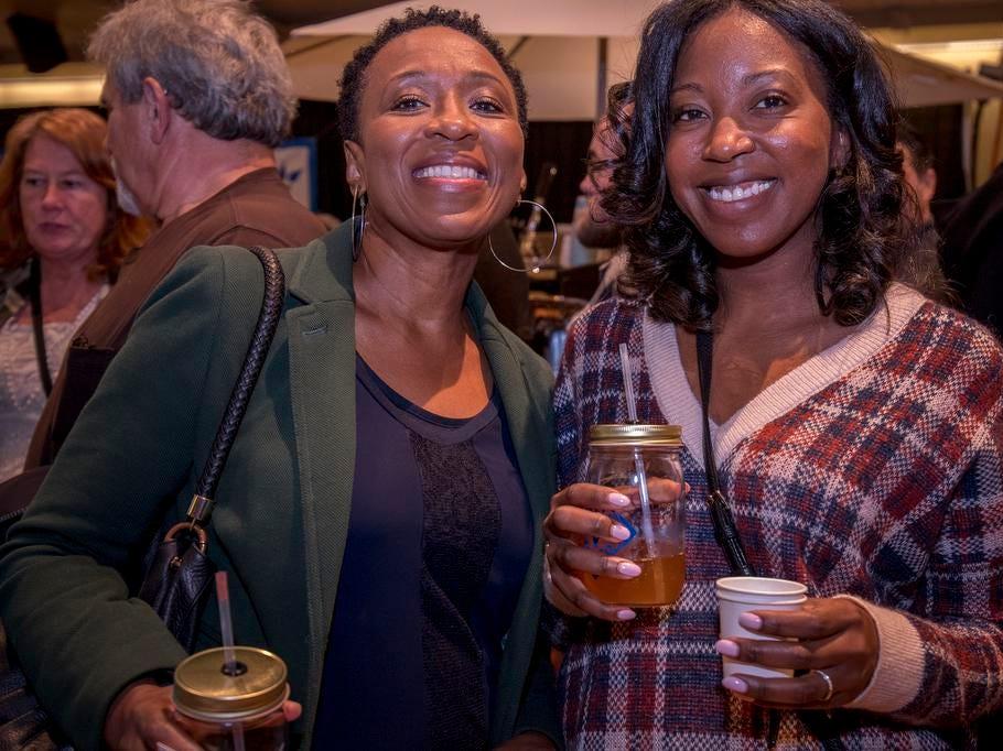 Dr. Eleanor Bolar of Springfield and Drea Cooke of Green Township attend the Cincinnati Coffee Festival at Music Hall Saturday, November 10, 2018 in Cincinnati, Ohio.