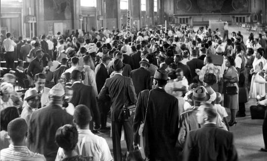 AUGUST 27, 1968: Washington marchers prepare to board train in Union Terminal.