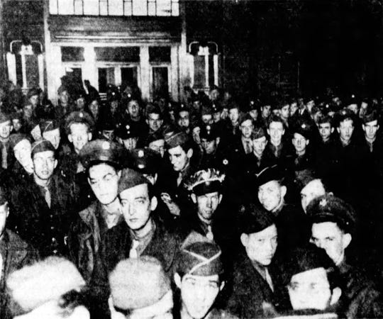 On Dec. 22, 1945, Union Terminal was packed with stranded travelers, the majority of them servicemen returning from overseas in World War II, just before Christmas.
