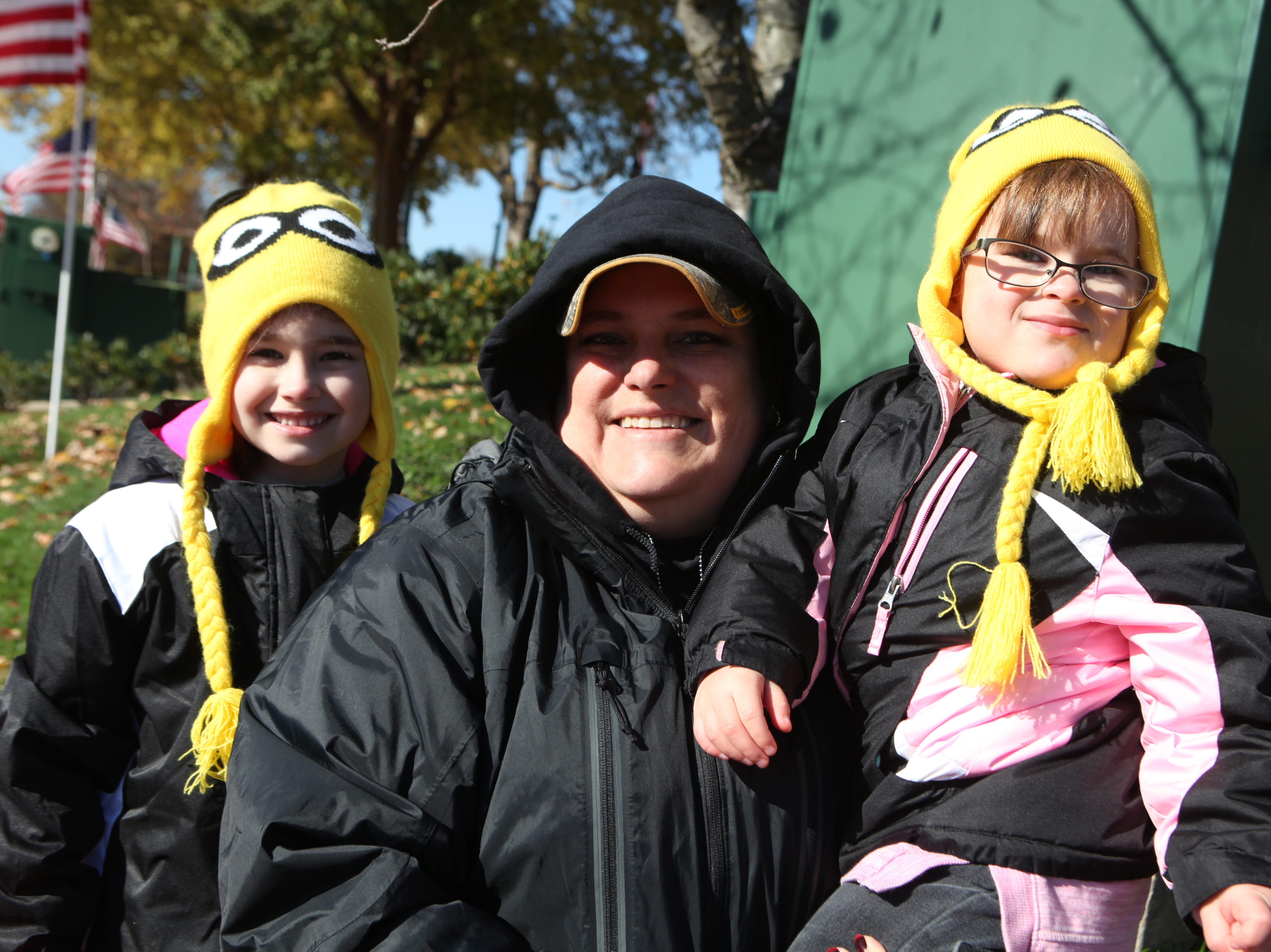 Taylor, Melissa and Emma Marsh at the Veterans Day Parade in Clarksville on Saturday, Nov. 10, 2018.