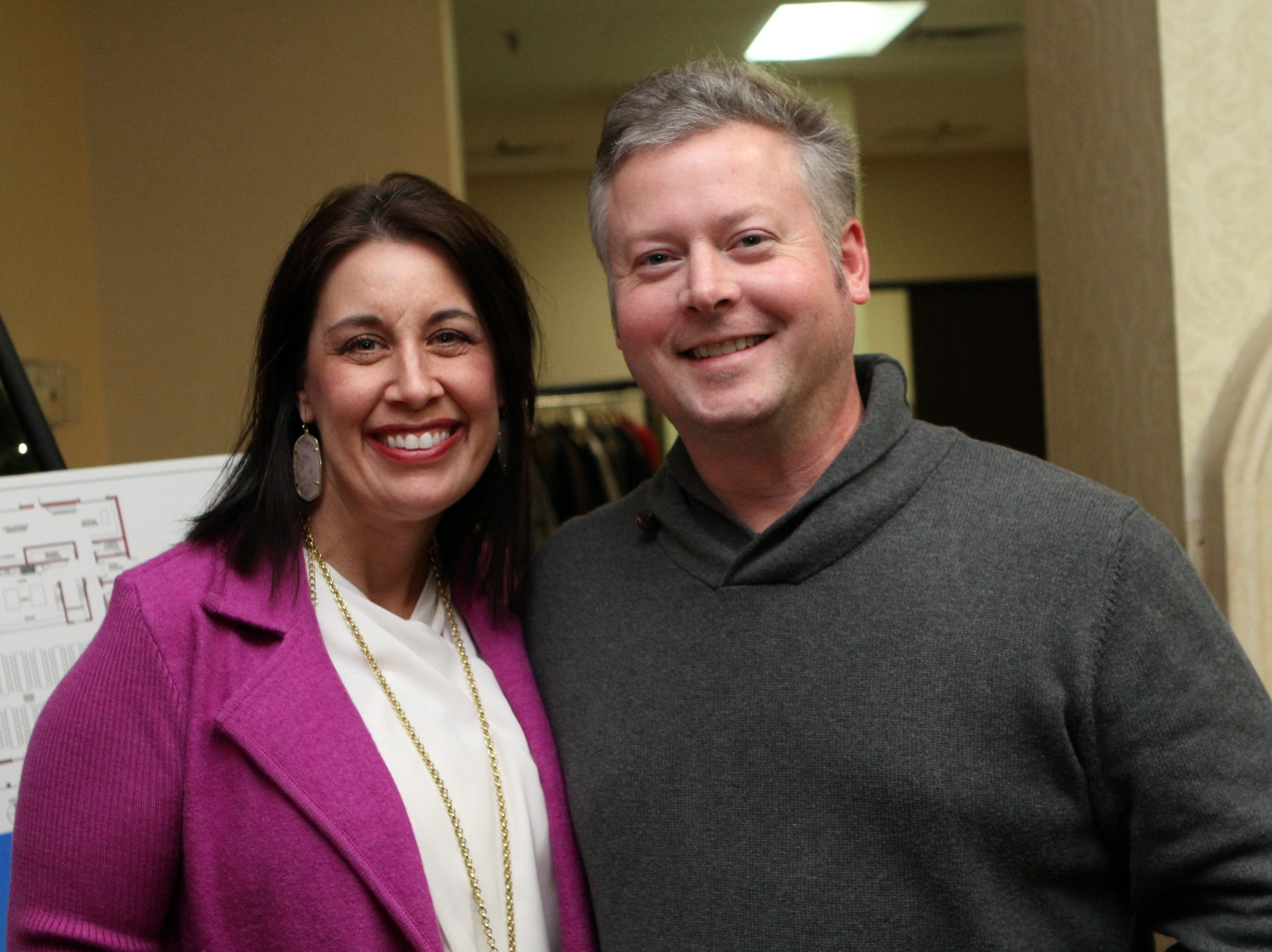 Christina and John Clark at the Loaves and Fishes Capital Campaign Kickoff on Saturday, Nov. 10, 2018.