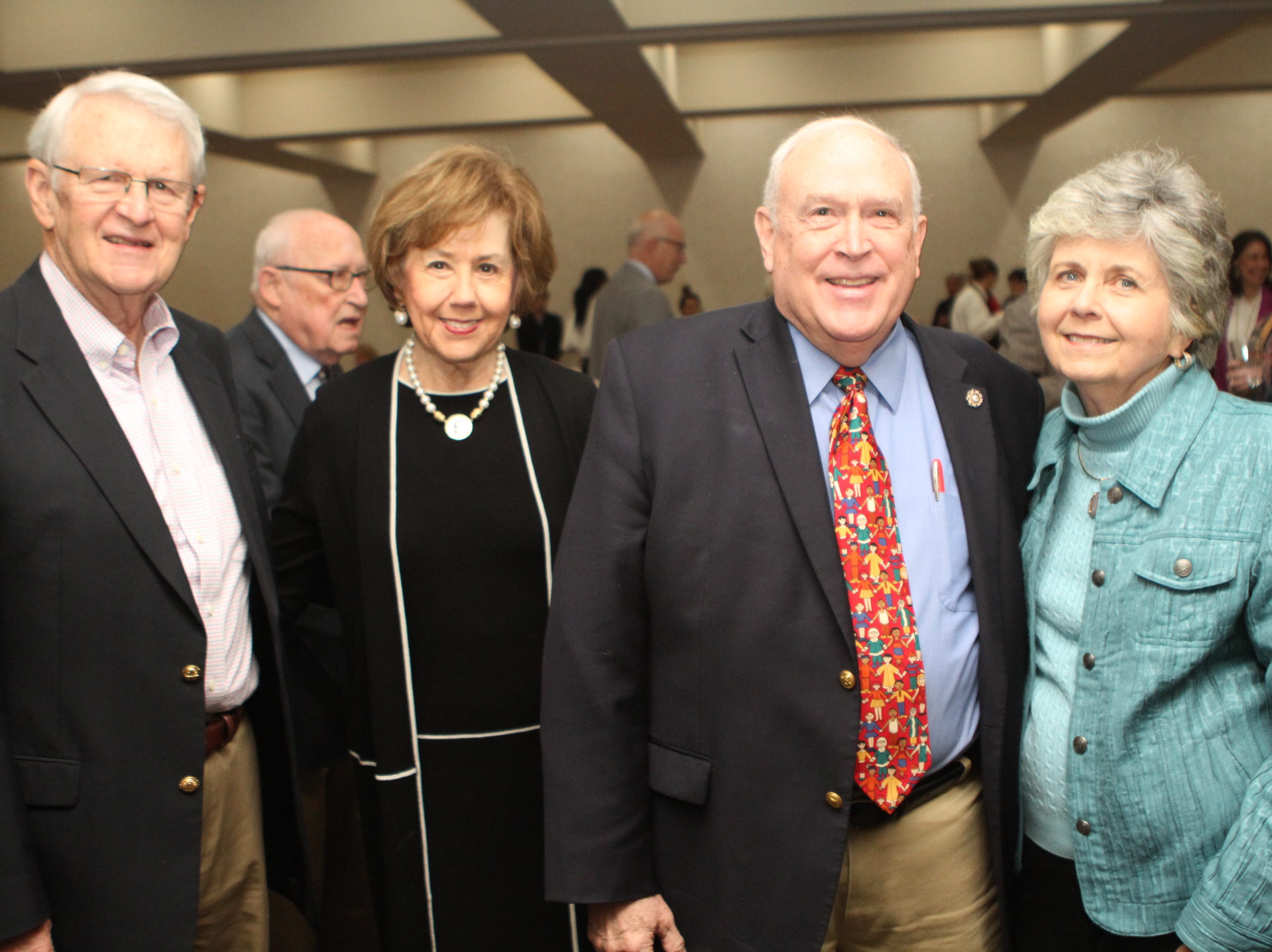 Jack and Cornelia Mitchell with James and Dottie Mann at the Loaves and Fishes Capital Campaign Kickoff on Saturday, Nov. 10, 2018.