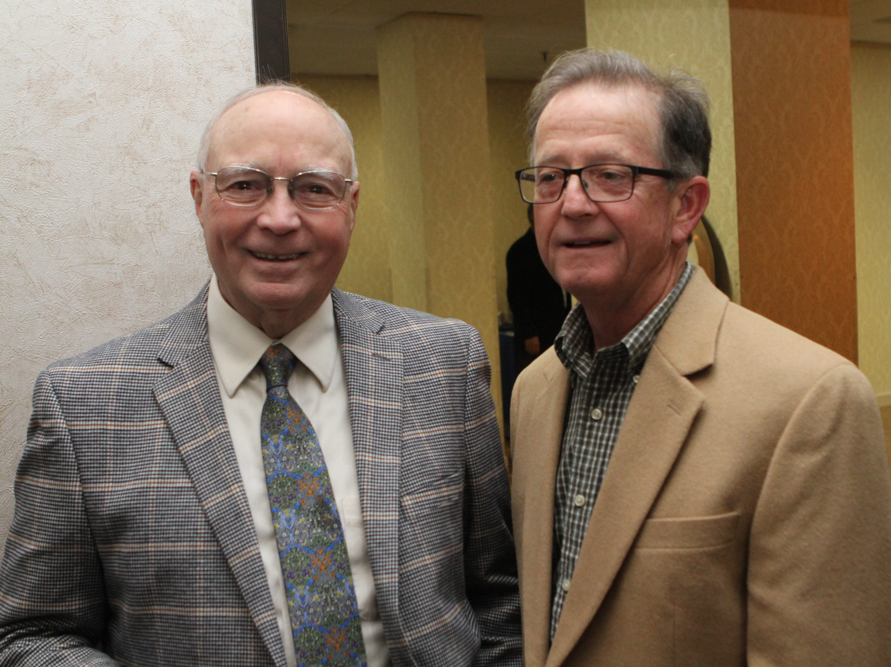 Floyd Scott and Bill Lyle at the Loaves and Fishes Capital Campaign Kickoff on Saturday, Nov. 10, 2018.