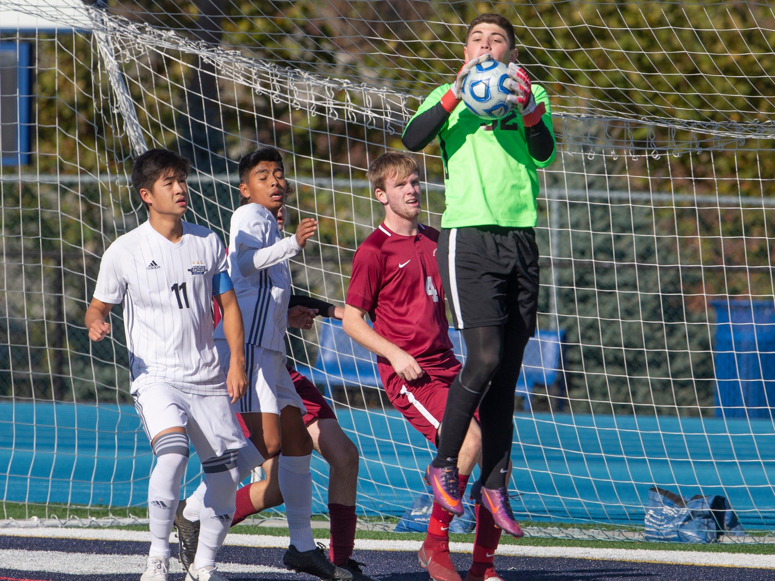 Delbarton vs Christian Brothers Academy in NJSIAA Boys Non-public A State Soccer Final.