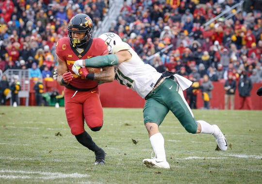 Iowa State running back David Montgomery has had a strong three seasons so far with Iowa State.