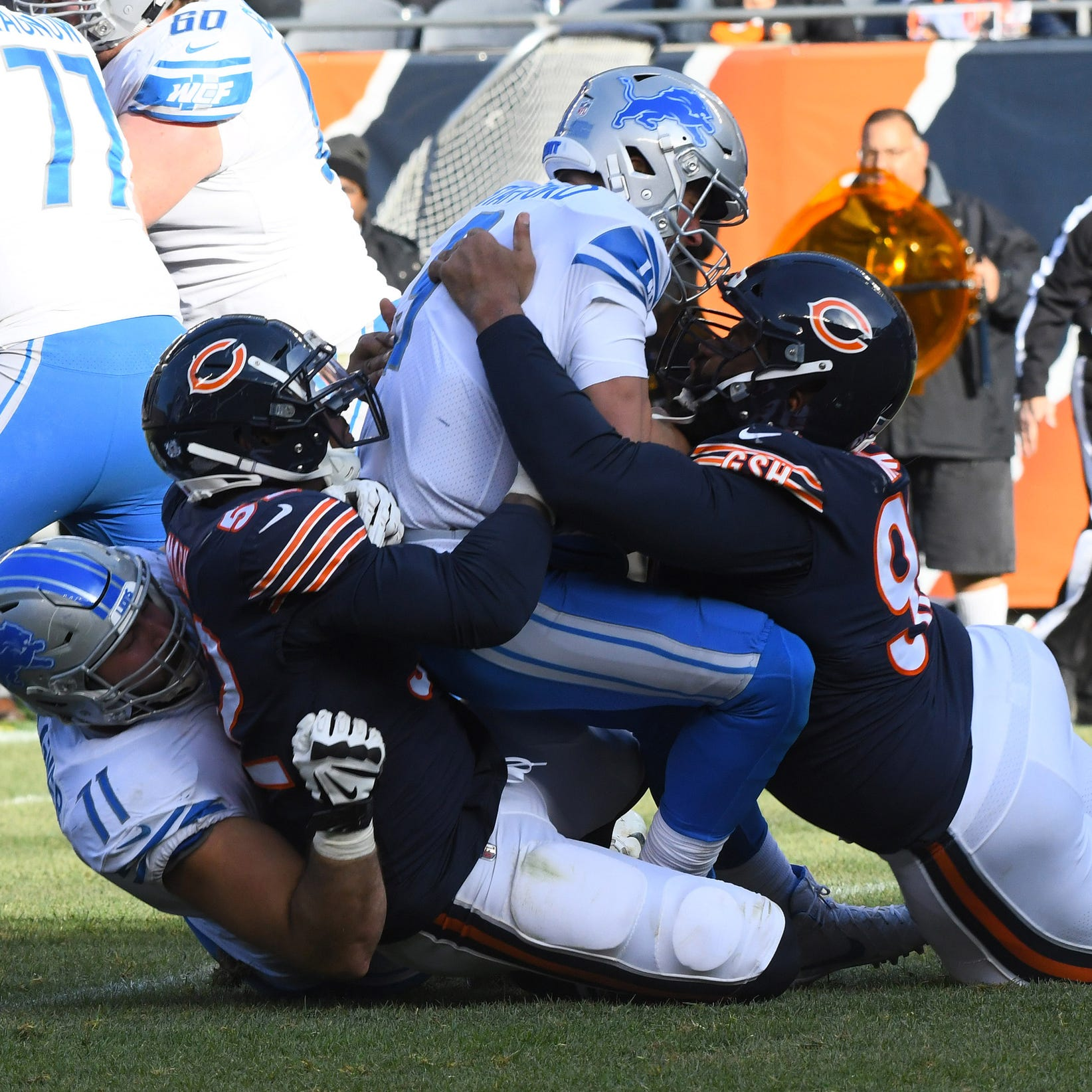 Detroit Lions' Matthew Stafford in 'not a good situation' as sacks mount
