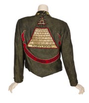 "A jacket worn by Madonna and Rosanna Arquette in the 1985 film ""Desperately Seeking Susan"" sold at auction for $100,000."