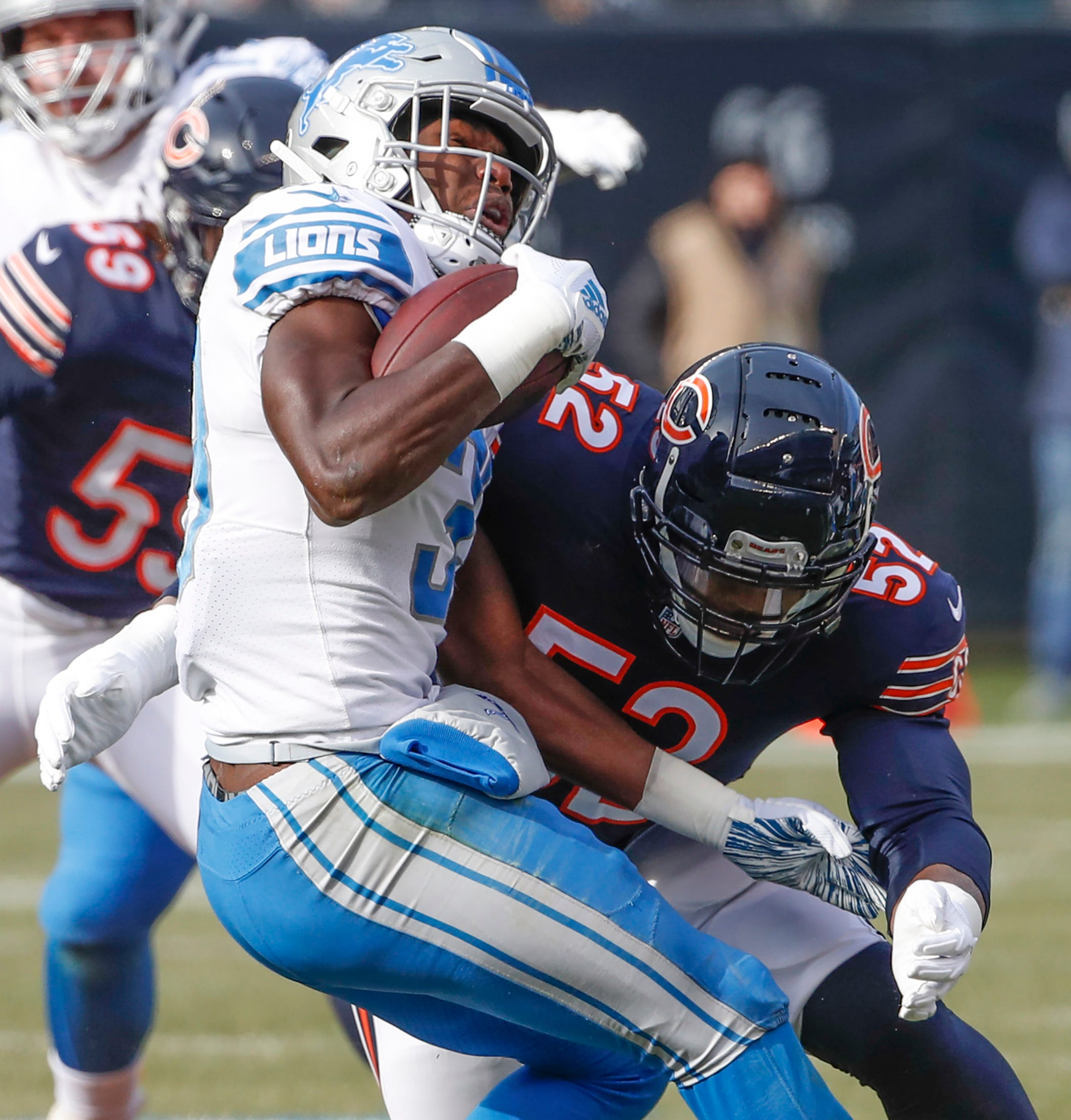 The Bears went from worst to first in the NFC North not because of a late-season winning streak in 2017 but because of new additions like head coach Matt Nagy and linebacker Khalil Mack (52).