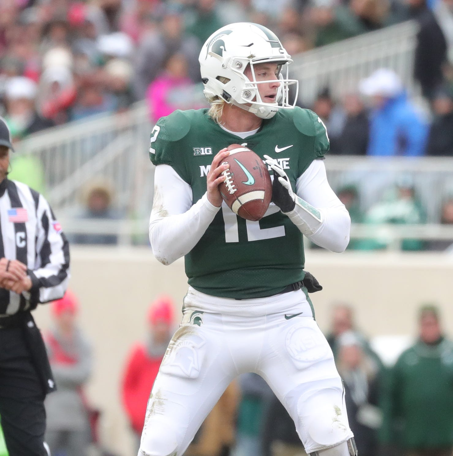 Michigan State football starts QB Rocky Lombardi at Nebraska