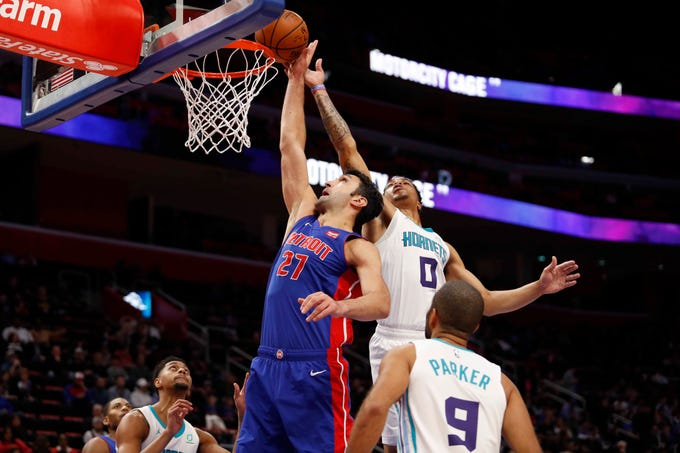 Charlotte Hornets 113, Detroit Pistons 103 Photos from Little Caesars Arena