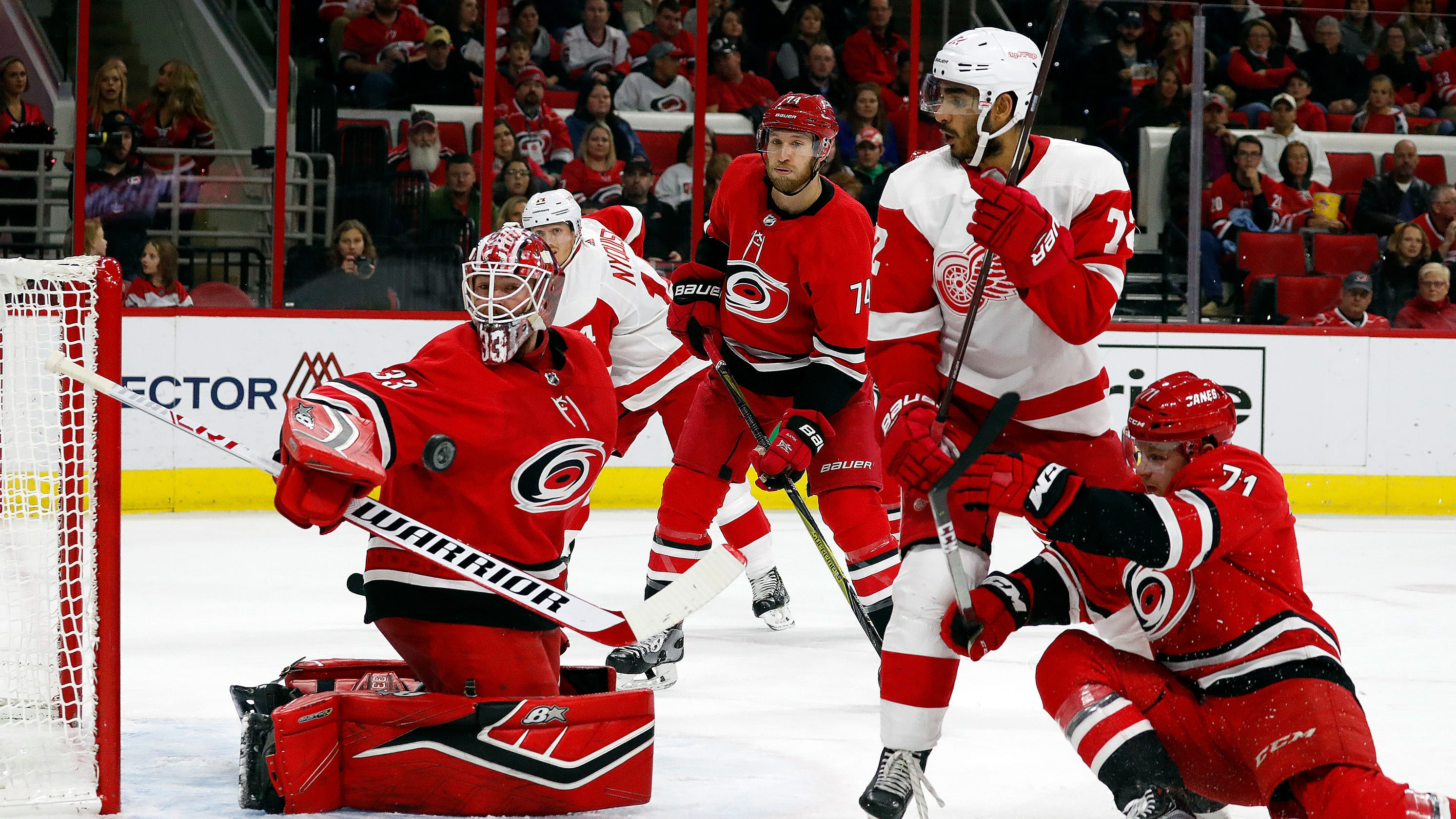 Detroit Red Wings surprise Hurricanes with rally, 4-3 SO win