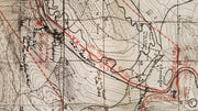 Map of troop movements in the Chehery-Cheuveges area on Nov. 6-7, 1918.