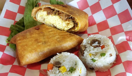 Charlie's Cafe serves traditional American diner fare with some creative inventions, such as the teri-changa special--chicken teriyaki and egg deep-fried in a burrito wrap.