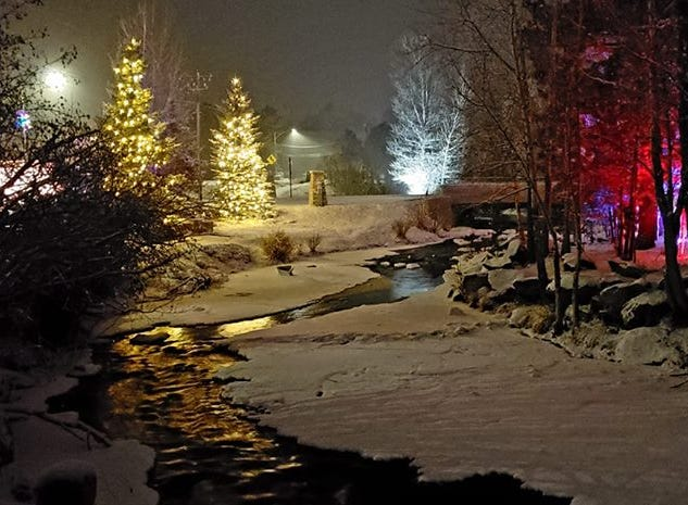 Snow blanketed Fort Collins on Sunday. Thank you for sharing your photos with us. This photo is of Estes Park.