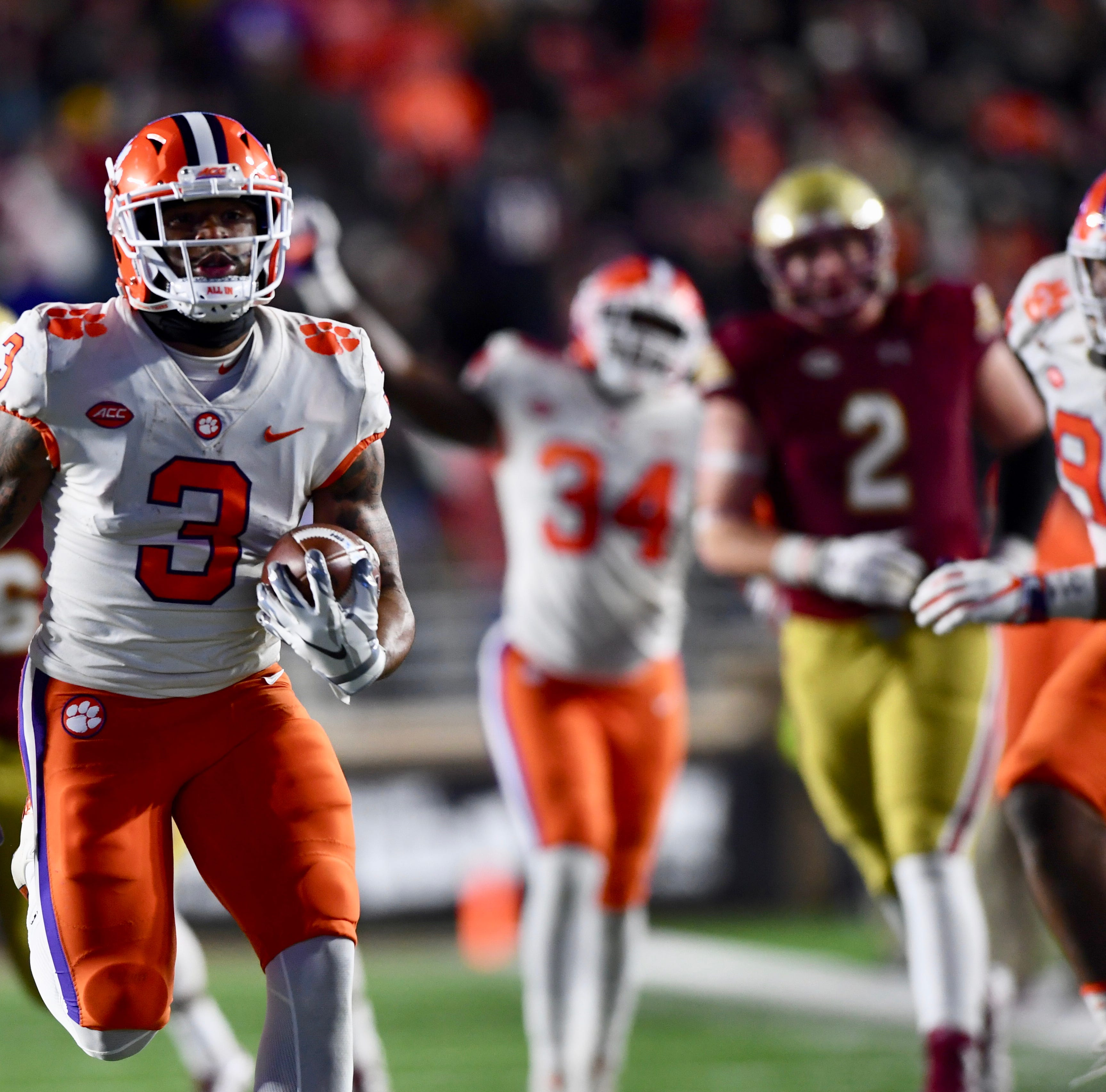 Live updates: Clemson Tigers face off against Boston College Eagles in ACC play