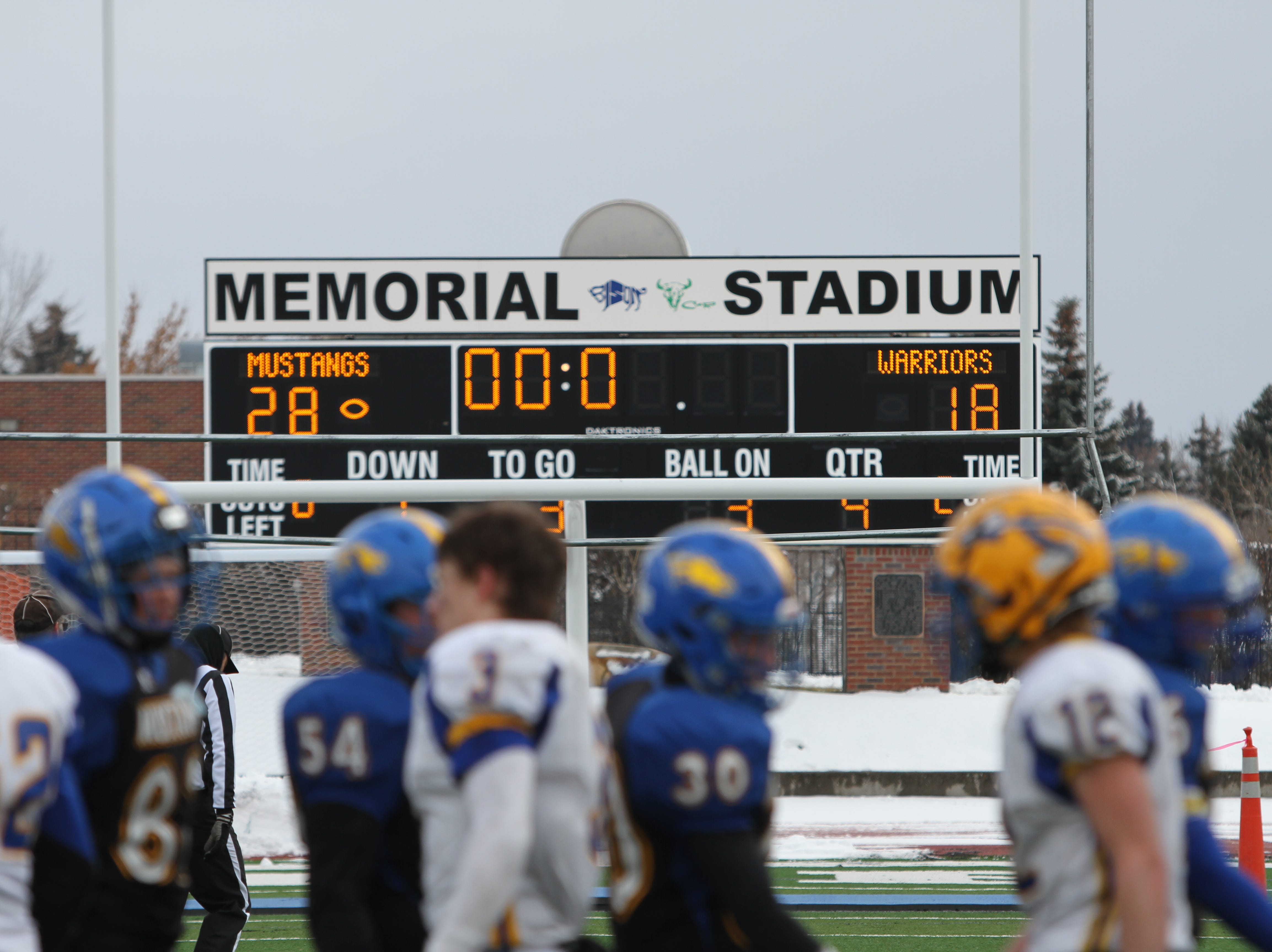 Greats Falls Central played host to Fairview in 8-man Football State Semifinals Saturday at Memorial Stadium