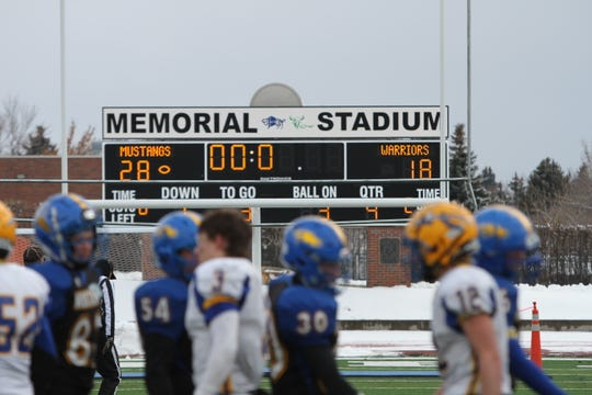 Great Falls Central played several Class C playoff games at Memorial Stadium last season.