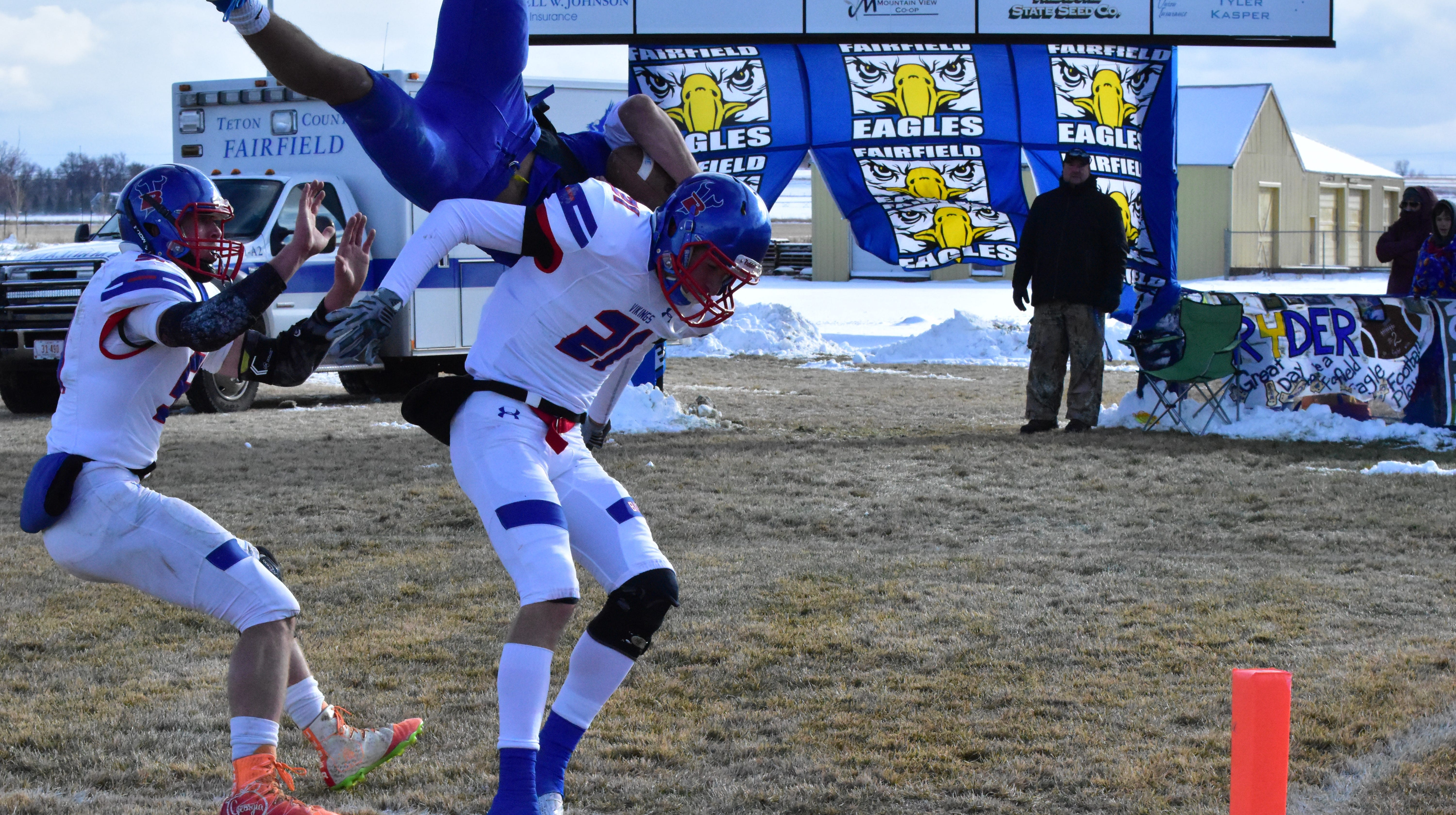The Fairfield Eagles hosted the Bigfork Vikings in a State Class B semifinal football game Saturday at Jacob Schilling Field.