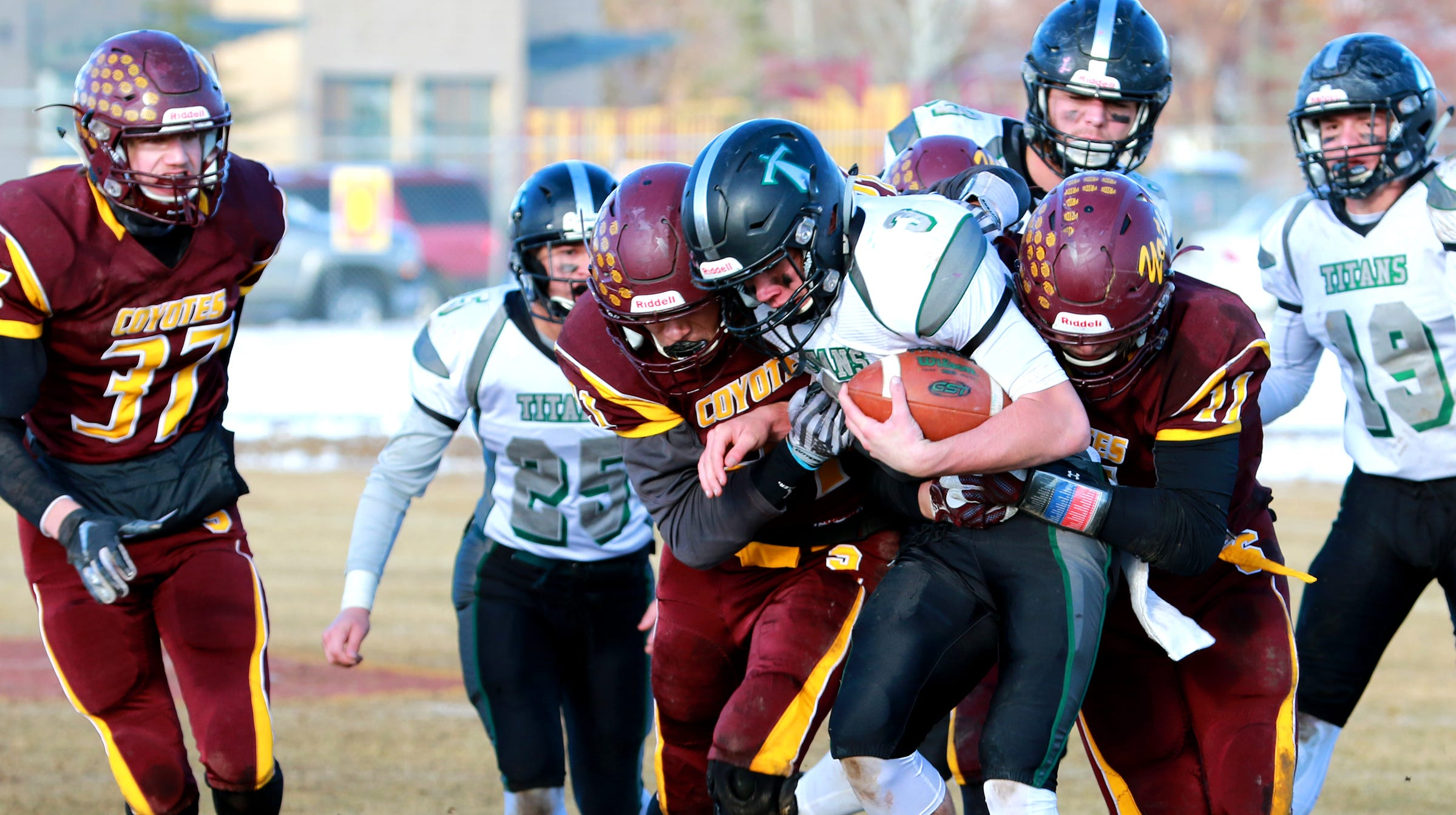 The defending state champion Titans will face Great Falls Central in the Eight-Man title game next Saturday.