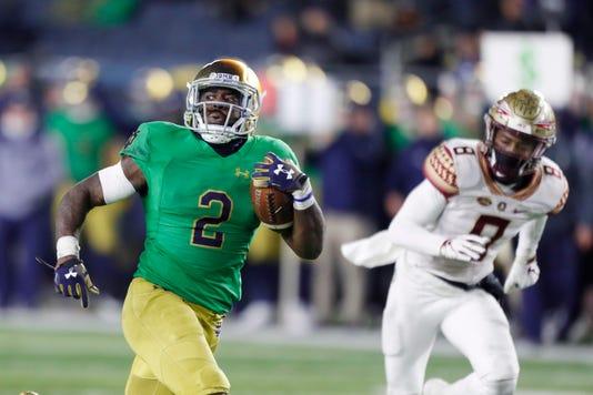 Ncaa Football Florida State At Notre Dame