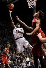 during the first half of the game at Hinkle Fieldhouse on Saturday, November 10, 2018. Matt Detrich/For The Star