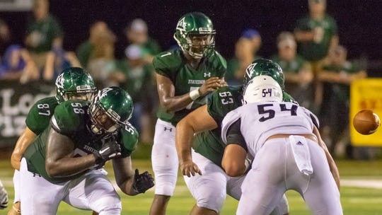 Delta State freshman quarterback Patrick Shegog, seen here earlier this season, is DSU's Conerly Trophy nominee. He is the Gulf South Conference co-Freshman of the Year.