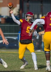 Jones County (Mississippi) Junior College quarterback Stetson Bennett IV throws during the MACJC title game in November. Bennett signed with Georgia, his former team, rather than join UL.