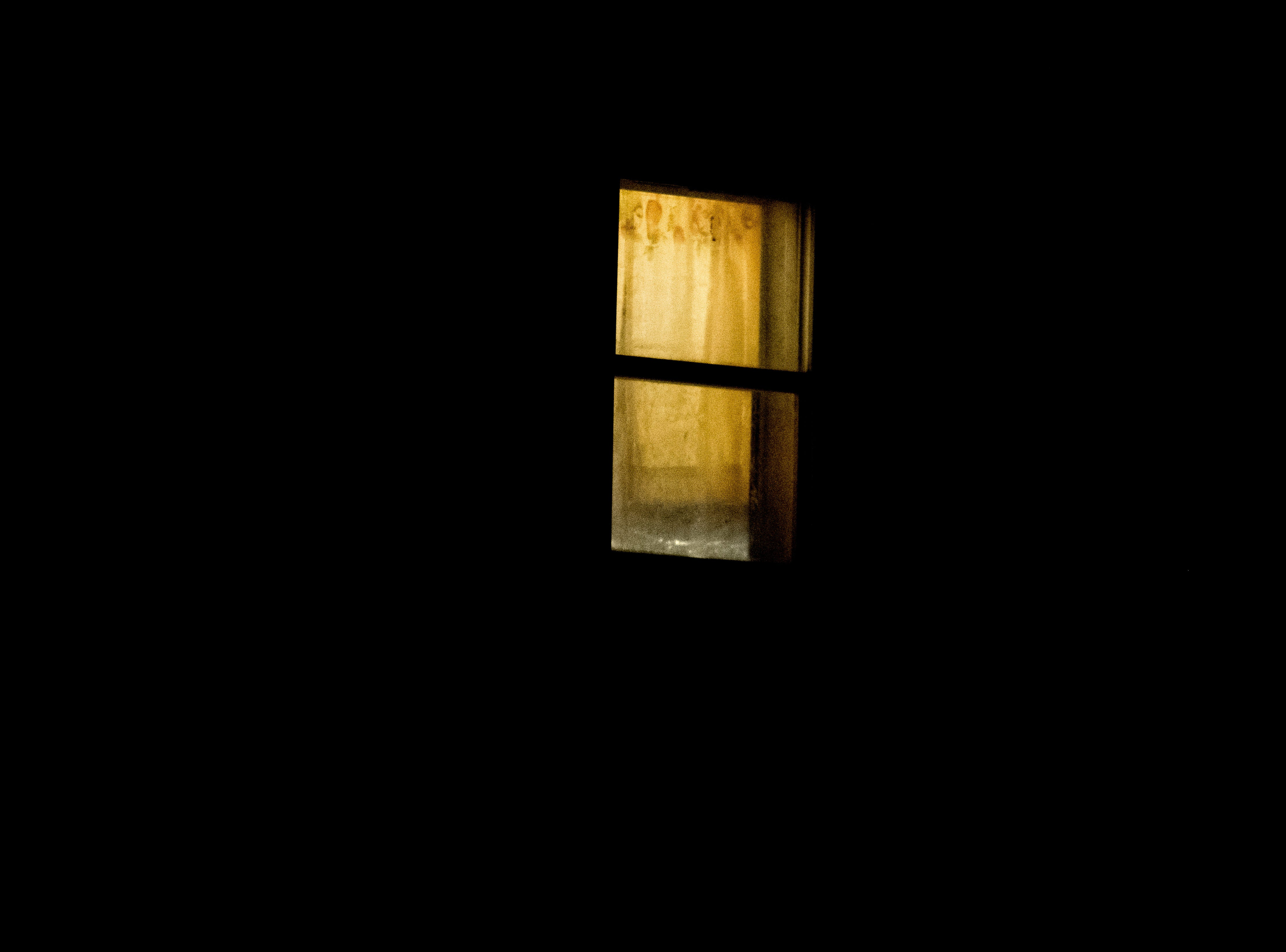 A window of the home where the shooting occured at the scene of a shooting on Forest Edge Way in Knoxville, Tennessee on Saturday, November 10, 2018. One victim was confirmed dead at the scene and a second injured.