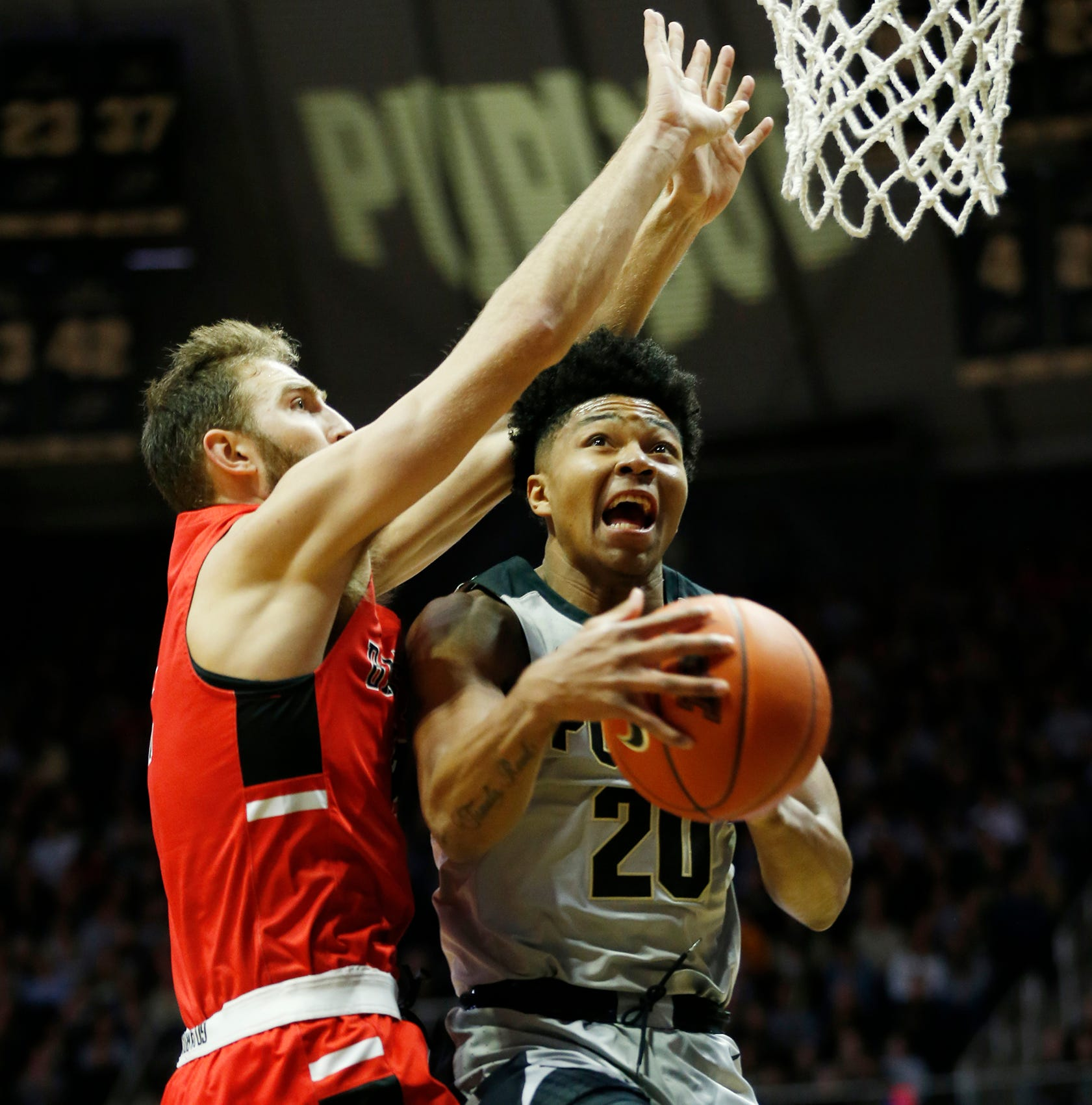 Purdue's Nojel Eastern makes transition from big body to big impact against Ball State