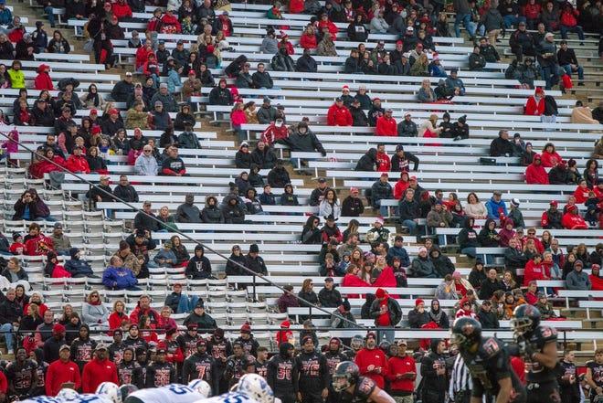 Empty seats at Cajun Field, where UL beat Georgia State 36-22 last Saturday.